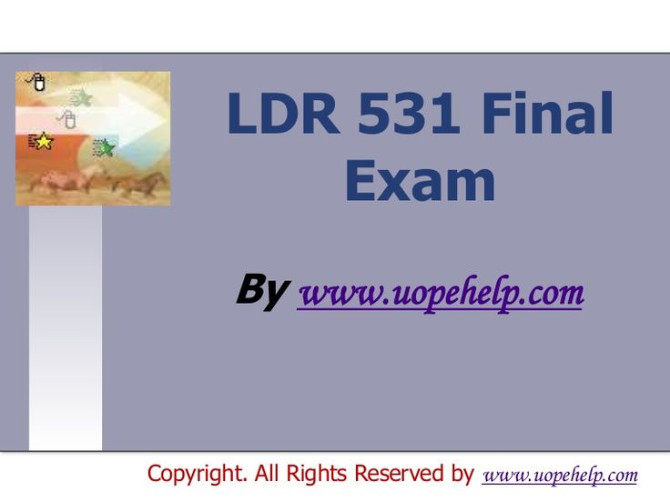 Confused and depressed about which tutorials to choose? Here is the tip. Try us and we guarantee that you will not have to look any further. We provide various homework help that you will find easy to understand. http://www.UopeHelp.com/ also provide LDR 531 Final Exam Latest UOP Assignments, Entire course questions with answers and law, finance, economics and accounting homework help, discussion questions, Homework Assignment etc. Join us to be straight 'A' student.