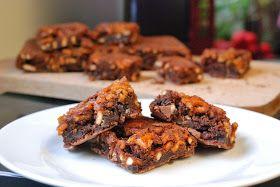 recette de brownies caramélisés au bretzels