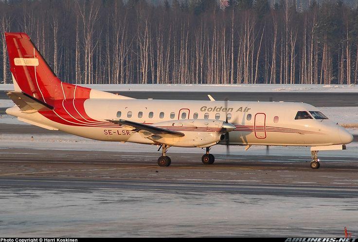 Saab 340A, Golden Air, SE-LSR, cn 340A-078, first flight 26.11.1986 (Bar Harbor Airlines), Golden Air delivered 28.7.2003. Foto: Helsinki, Finland, 24.2.2005.