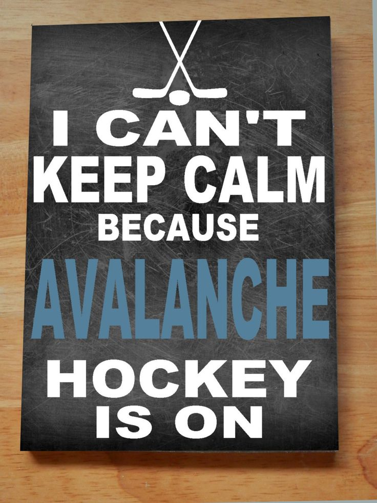 "AVALANCHE Hockey ""I Can't Keep Calm"" Wall Plaque"