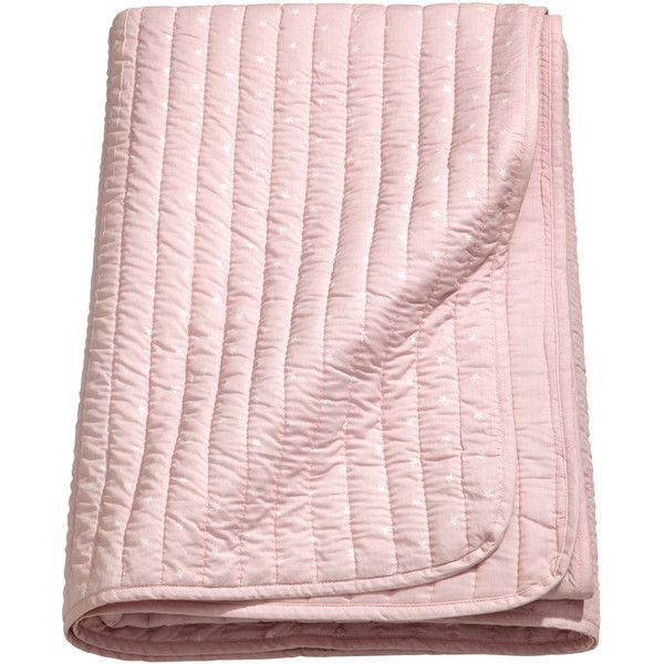 Quilted Bedspread $59.99 ($60) ❤ liked on Polyvore featuring home, bed & bath, bedding, bedspreads, soft pink bedding, woven bedspreads, pink baby bedding, light pink bedding and quilted bedding