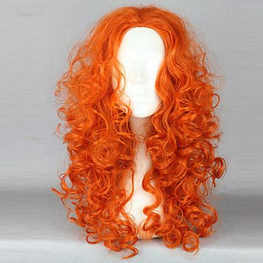 Brave Princess Merida Orange Cosplay Wave Wig – USD $ 39.99 I can turn this into the style I need for this year.