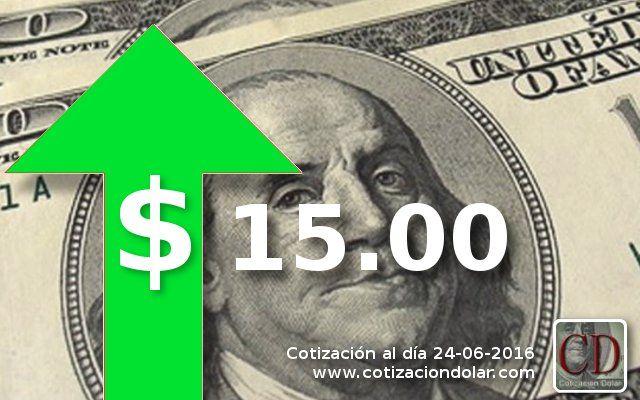 #Cotizacion promedio 24-06-16: #Dolar: 15.00 ▲ / #Euro: 17.21 ▲ / http://www.cotizacion-dolar.com.ar/