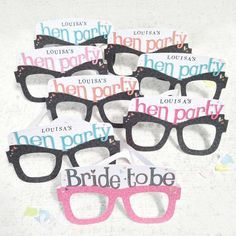 Hen party card glasses from Not on the High Street