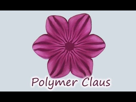 ▶ Millefiori cane: Pink Flames Flower (polymer clay tutorial fimo tutorial) - YouTube