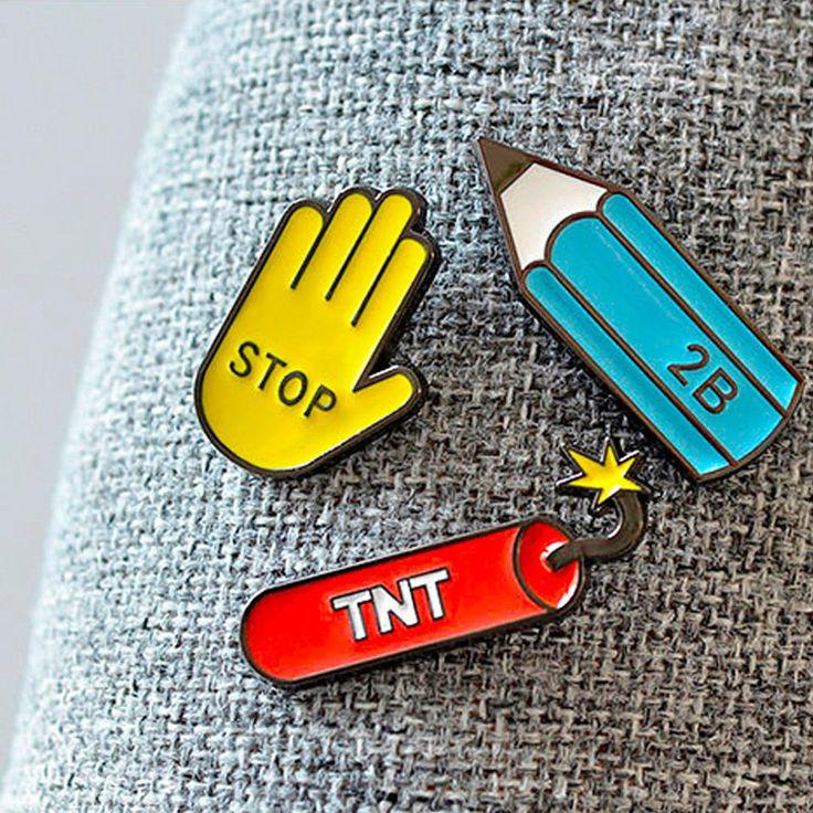 Cute Cartoon Enamel Pin
