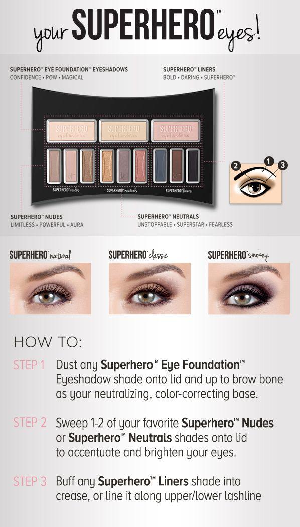 Transform your eyes with Superhero Eye Transforming Anti-Aging Super Palette!