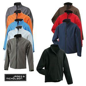 James & Nicholson Mens Softshell Jacket JN135 Herren Softshell Jacke | eBay