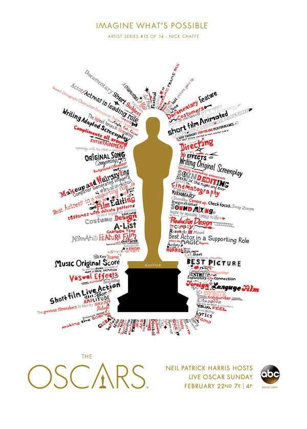 "Oscars 2015 ""Imagine What's Possible"" Artist Series: Nick Chaffe, United Kingdom"