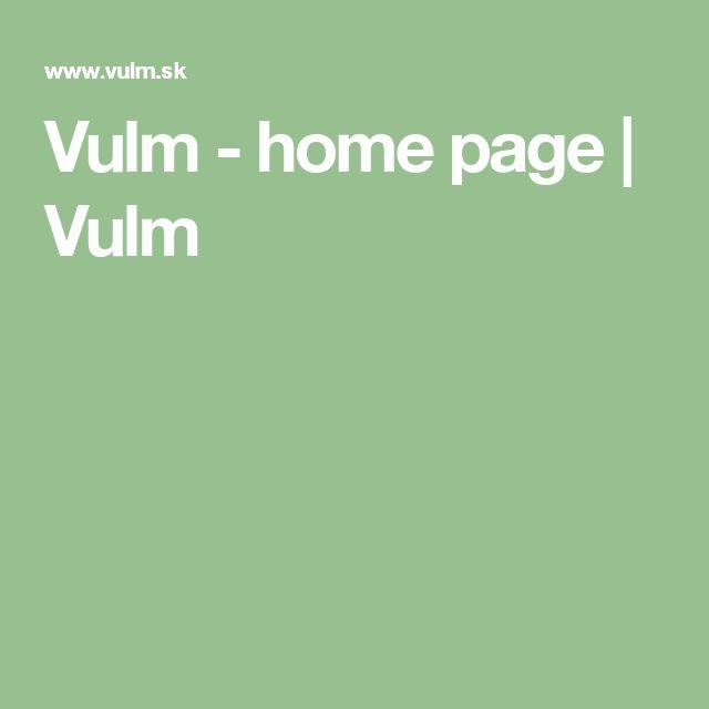 Vulm - home page | Vulm