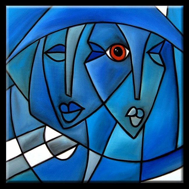 Cubist-103-2424-Free-Energy-2.jpg - by Thomas C. Fedro from Contemporary Cubism Art Gallery