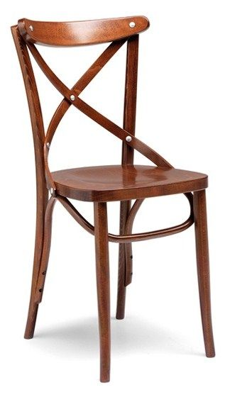 Croce - solid beech bentwood chair, manufactured in Italy, all-time design classic. Can be finished to choice. Ideal for commercial casual dining.