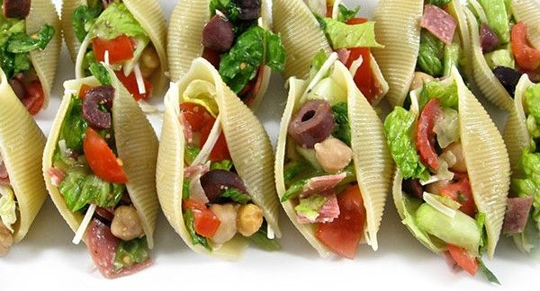 Skinny Points Recipes » Low in Calorie Chicken Caesar Salad Stuffed Shells
