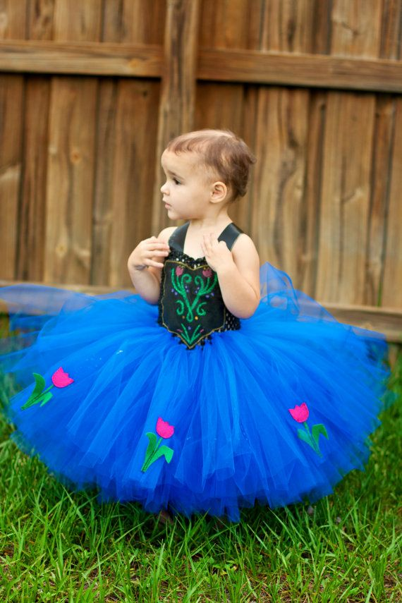 Anna Frozen Inspired Tutu Dress by