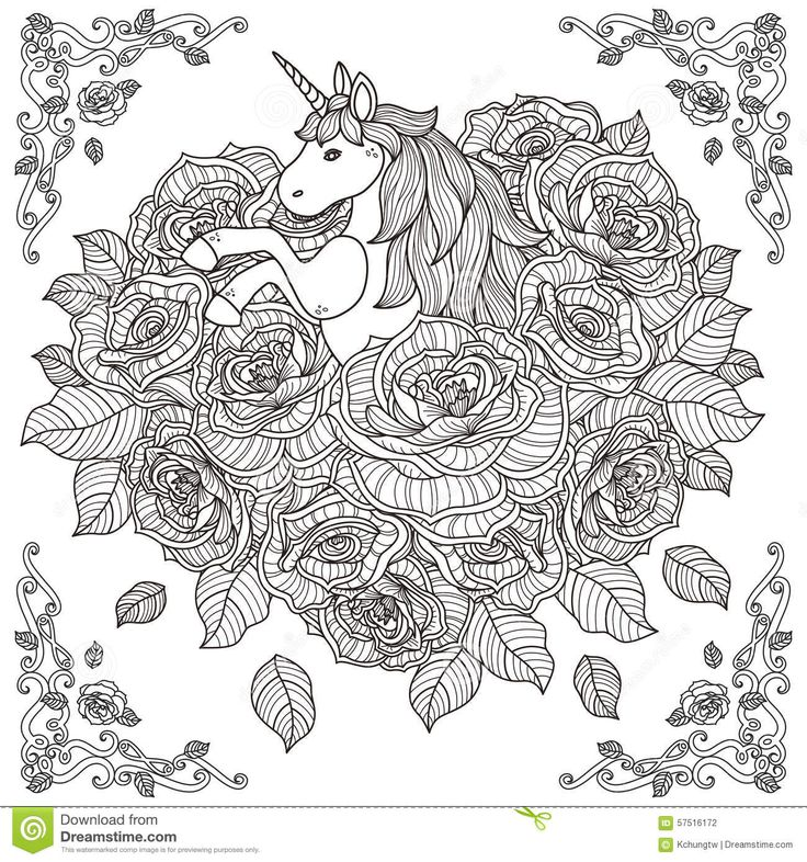 1000+ Images About Unicorn Coloring Pages On Pinterest