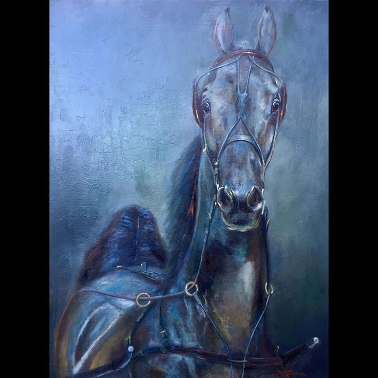 American Saddlebred Fine Harness horse, Kalarma's Too Hot to Handle owned by Anita Brooks Simpson inspired this latest painting. 30'x40' oil on canvas. From a photograph by Sarah Bennett. #horseart #fineart #interiordesign #americansaddlebred #horseportrait