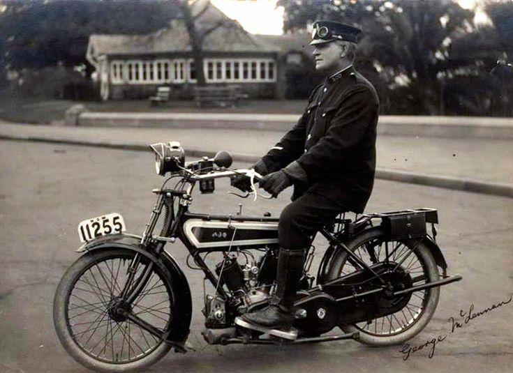 AJS c1915 police motorcycle Sydney NSW Australia *