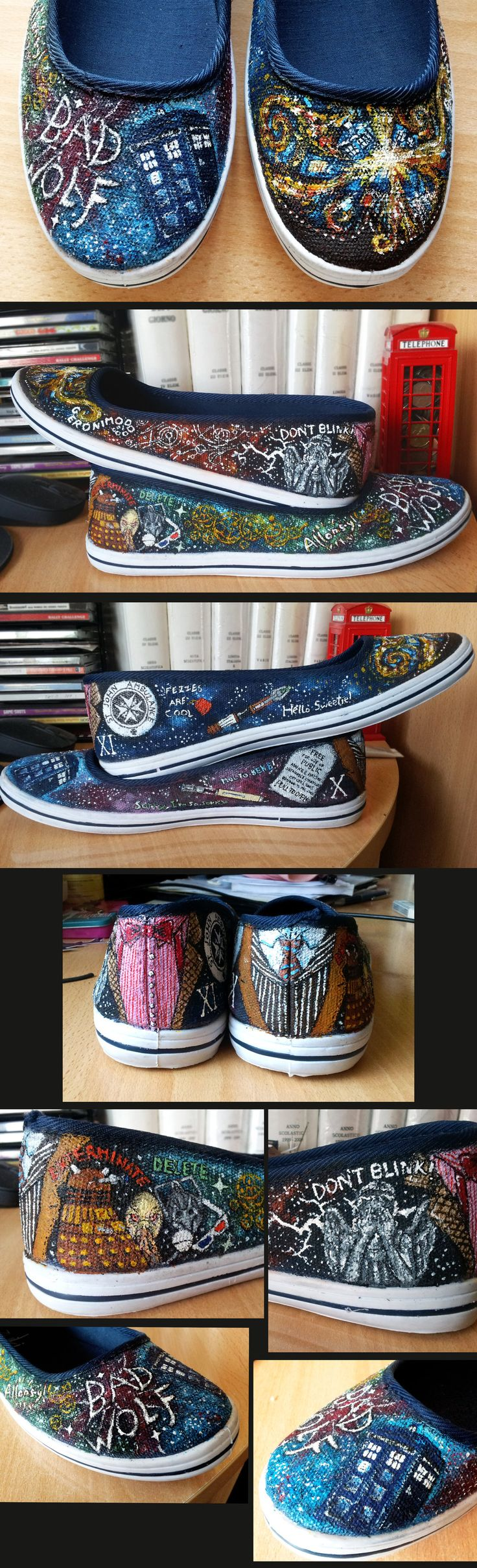 Doctor Who Shoes by ~EerieStir on deviantART~AMAZING!!!
