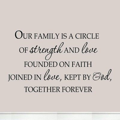 Winston Porter Culver Our Household is a Circle of Energy and Love Based on Religion Joined By Love Household Wall Decal