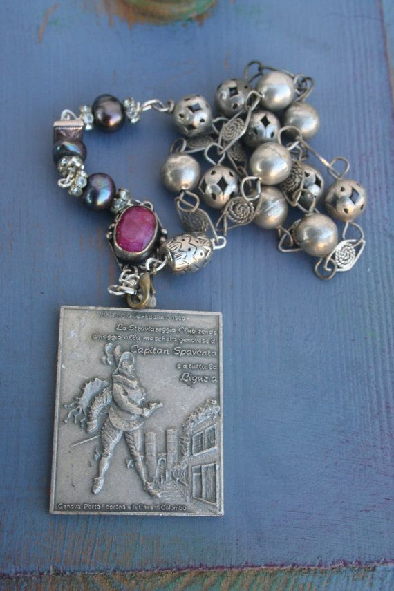 Vintage assemblage Assemblage jewelry Assemblage by IRISHTREASURE