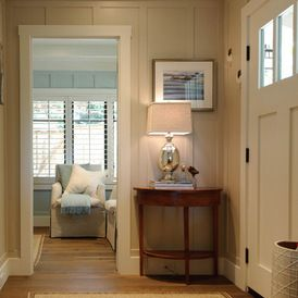 color...Sherwin Williams Accesible Beige SW7036 ......Beach Style Entry by Regan Baker Design