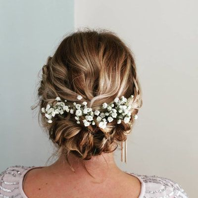 Gallery - Hairbyemmac - Wedding Hair Specialist in Cornwall textured updo blonde hair updo braided updo flowers in the hair inspo bridesmaid inspo ins...