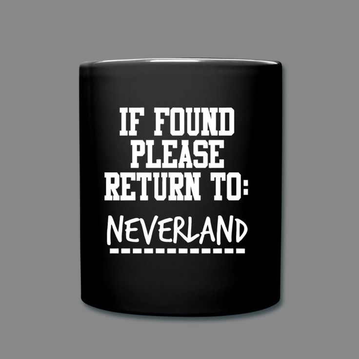 If Found Please Return to Neverland