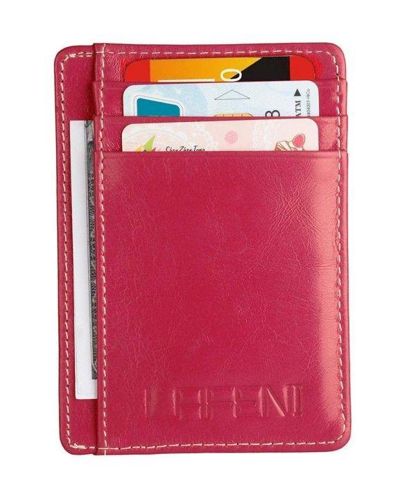 ID Pocket Holder Wallets Credit Card Thin RFID Blocking Minimalist  Slim  Womens