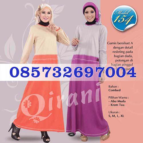 Gamis Qirani Model 154 Hubungi  085732697004 PIN BB D10F64D6