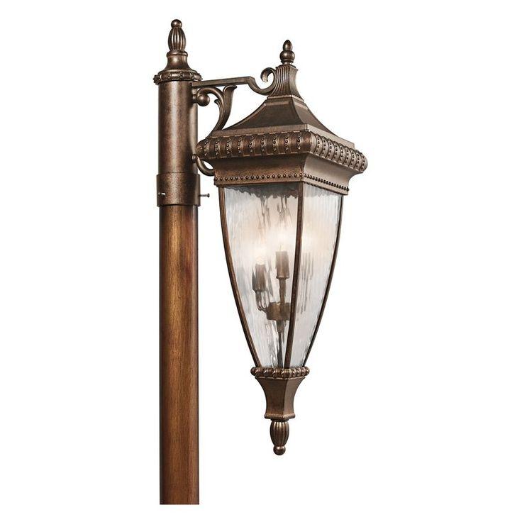 kichler venetian rain outdoor post lantern 925 in 49133b - Kichler Outdoor Lighting