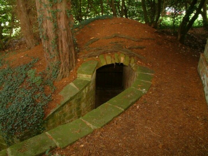 Secret entrance to underground home
