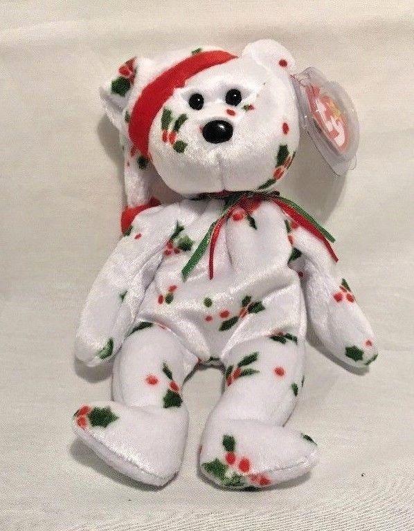 2b4b3c7ca4e Ty Beanie Baby 1998 Holiday Teddy with Tag Christmas Plush Bear  Ty ...