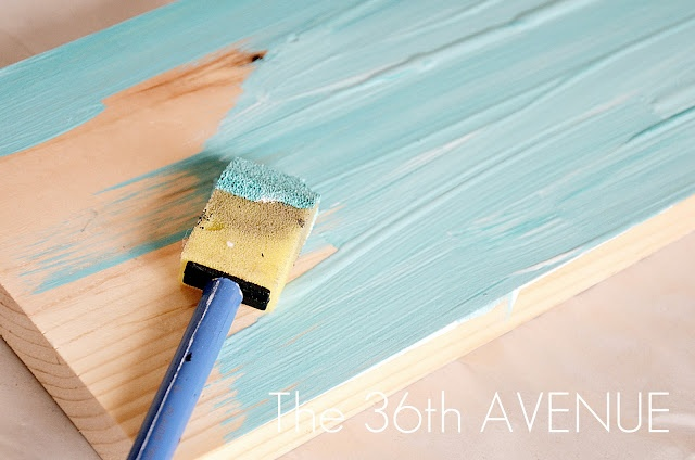DIY Distressed Stenciled Sign Tutorial   The 36th AVENUE