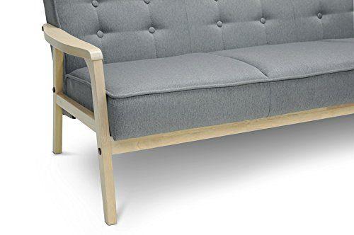 Midcentury Modern Baxton Studio Gray Mid-Century/Vintage Sofa