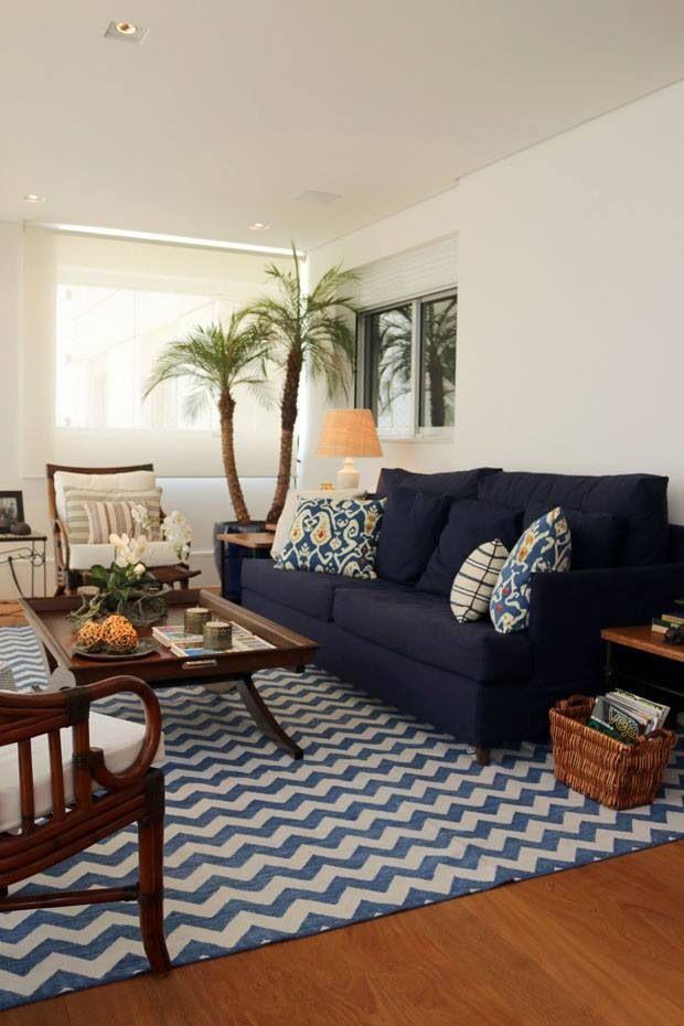 Sala De Estar Azul Marinho ~  azul marinho, Travesseiros para a sala de estar e Almofadas azuis