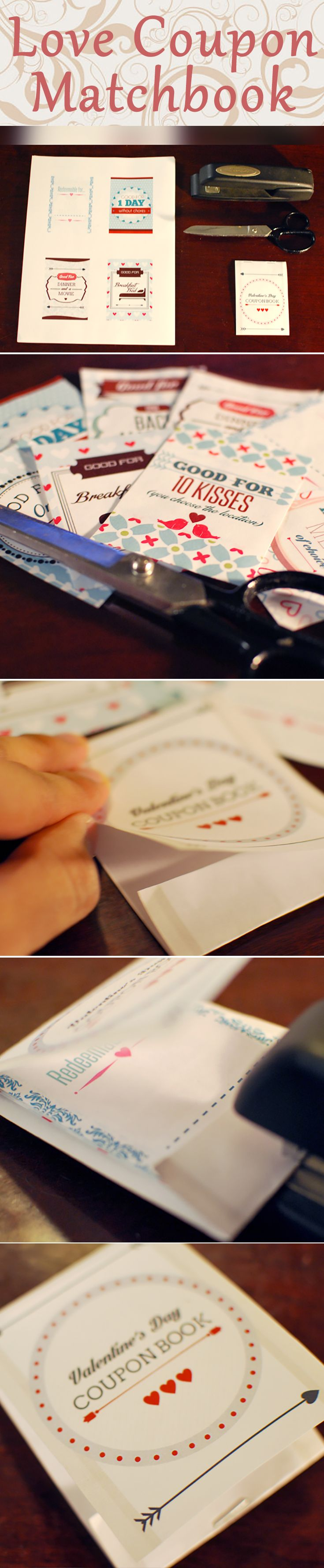 Love Coupon Matchbook! #DIY Valentine's Day gift