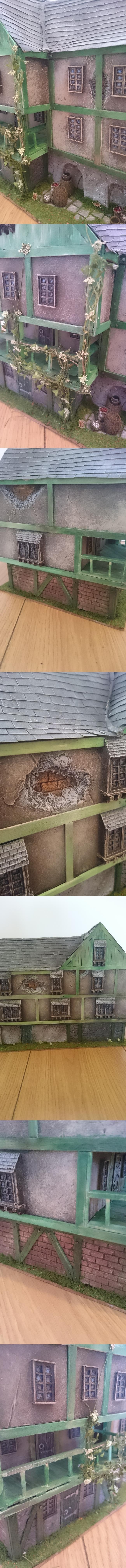 scratchbuilt brick tavern