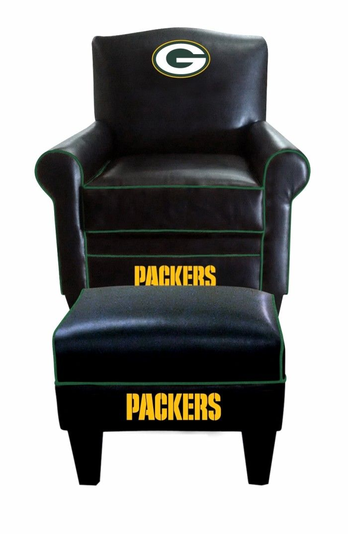 Green Bay Packers NFL Game Time Chair & Ottoman/Footstool Furniture Set
