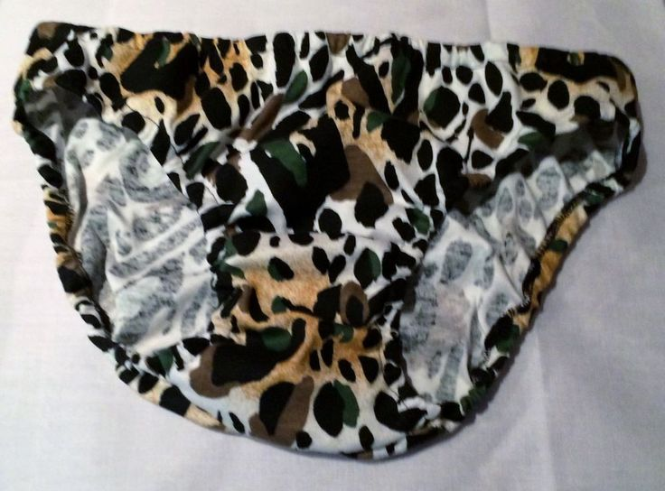 Large Brown Black White Leopard Print Cotton Lycra Mens Bikini Underwear | eBay