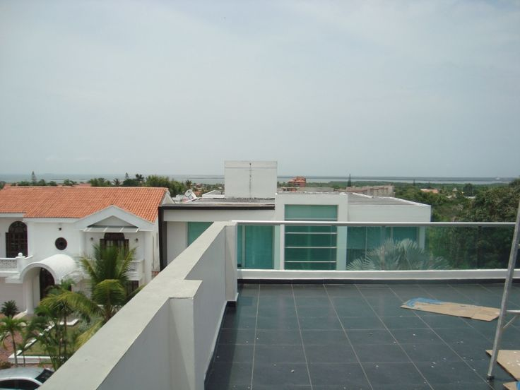 Vista de la terraza de la casa