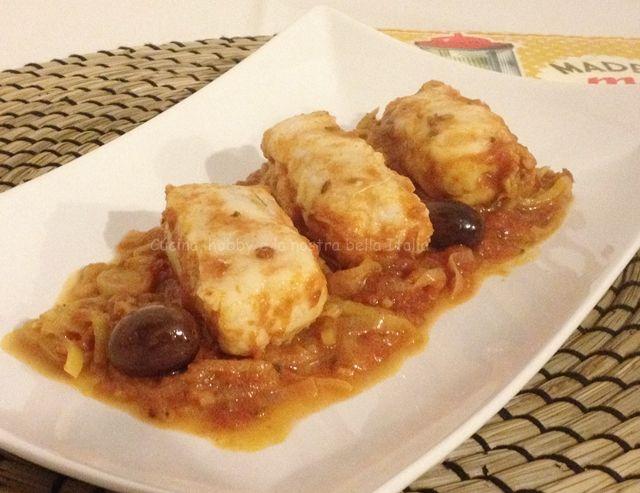 Tranci di #merluzzo al #porro #pesce #verdura #ricetta #gialloblog #ricettefacili