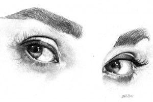kresba očí