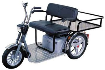 three wheel bike and motor handicapped | Mobility Scooters | Electric Mobility Scooters | Mobility Scooters UK, this would make a nice cab for seniors and disabled to use in town. it may be a good business to start if one were owned...