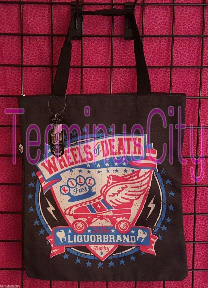 #LIQUORBRAND #ROLLER #GIRL #TOTE #HANDBAG #Shopper #Diaper #Bag #RollerDerby #Wheels #Death #Punk #LiquorBrand #Tote #Shopper