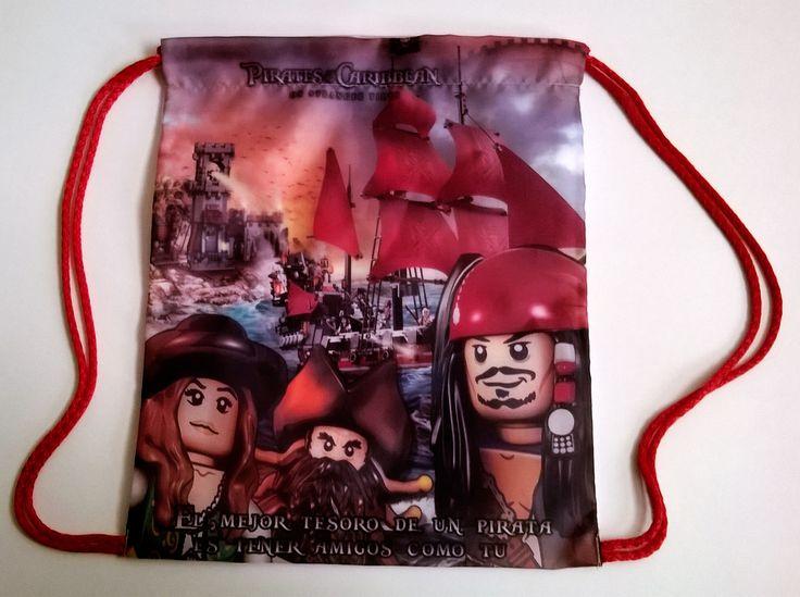 Bolsita para dulces Lego Piratas del Caribe Flying Dutch 25 x 30 cm. Contacto Facebook Wambi Crafts