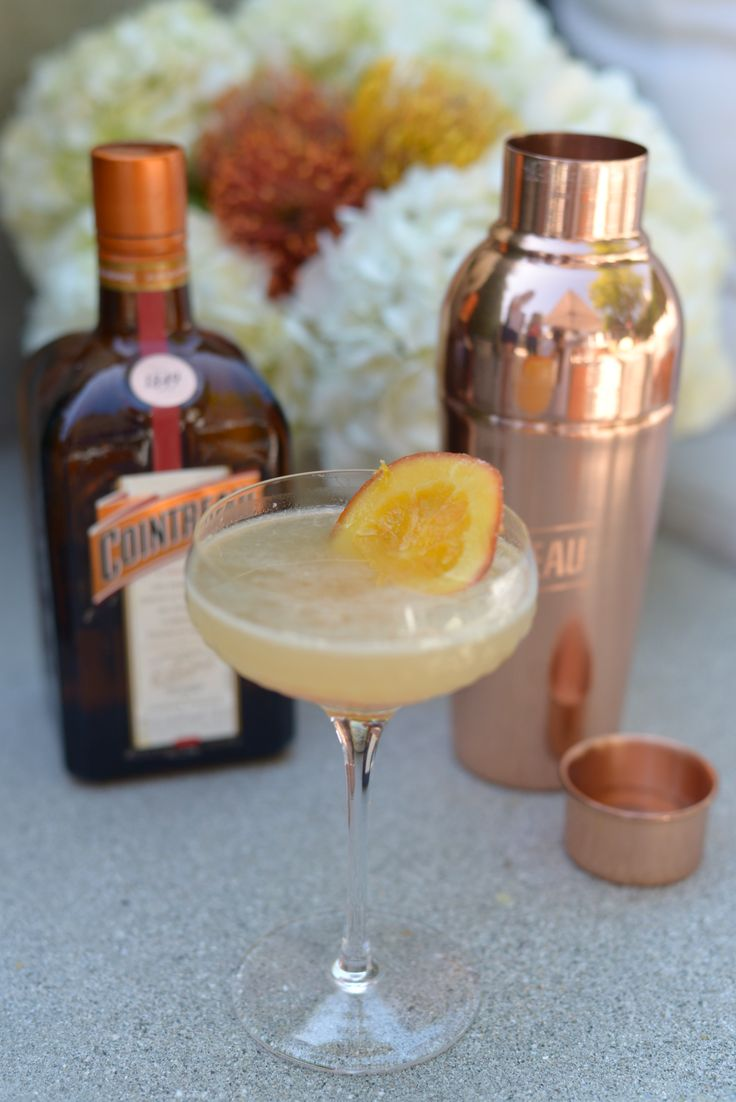 This summer cocktail is a spin on the classic Aviation, swapping crème de violette, with a sweet orange liqueur to match golden hour for a summer soirée.  a dried orange garnish as a nod to how @Cointreau_us is made. #CointreauSoiree #ad   Ingredients: 3/4 oz Cointreau 1 1/2 oz The Botanist Gin 1 1/2 oz lemon juice, freshly squeezed 1/2 oz agave to a shaker Dried orange, as garnish Ice  Add all ingredients to a shaker, shake until chilled, strain into coupe. Enjoy!
