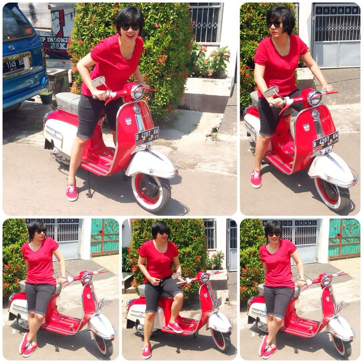 Love in Classic! #vespa #lambretta #red #white #classic #indonesia