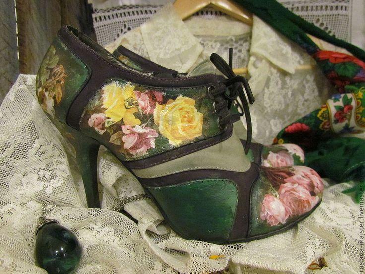декупаж, обувь -decoupage shoes