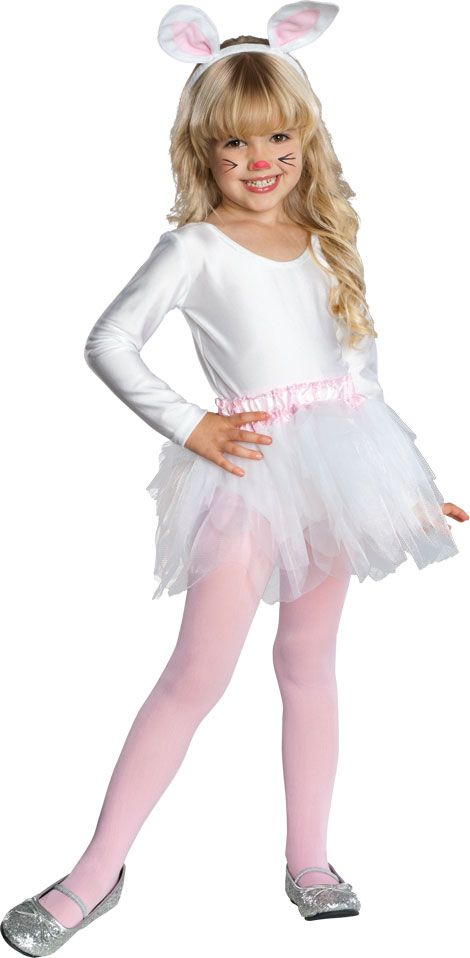 She will keep things hopping as soon as she joins the animal kingdom in our Ballerina Bunny Kids Costume. Girls will be whirling, twirling and hippity hopping down the rabbit trail! Our kids Ballerina Bunny Costume includes a long sleeve white leotard, white tutu skirt with pink ruffled waistband and attached rabbit tail, bunny ears headband with pink lining and light pink tights. She will put on a ballet performance and show you all her new moves. Our Ballerina Bunny Costume for kids is a…