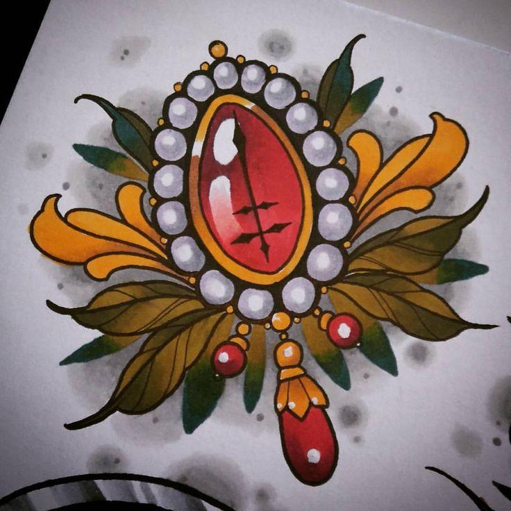 """Polubienia: 82, komentarze: 2 – Iwona Koźlarzewska (@yvonneheartmann) na Instagramie: """"#jewelltattoo #jewellery #cross #crosstattoo #lorrainecross #lorrainecrosstattoo #tattoo #tattooed…"""""""